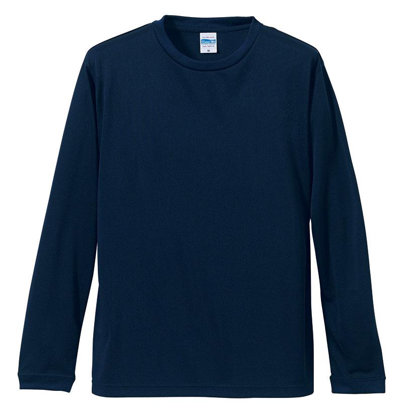 4.7オンスドライロングスリーブTシャツ(ネイビー)