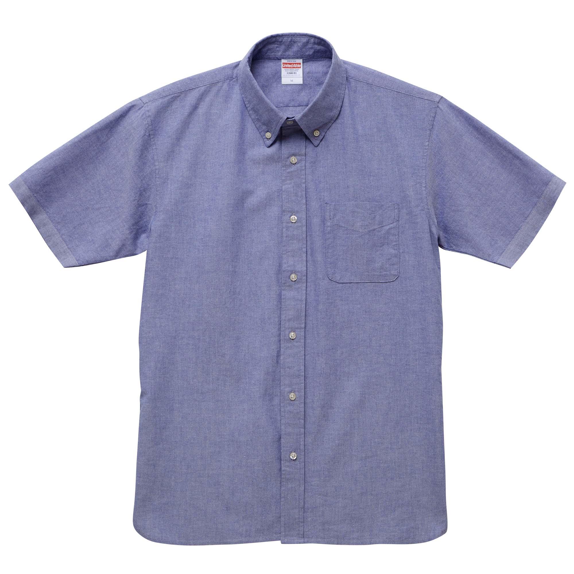 オックスフォードショートスリーブシャツ(OXブルー)