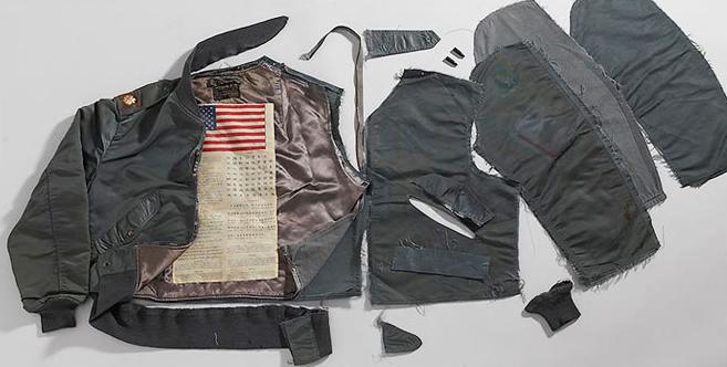 米軍が着用していたジャケットの写真