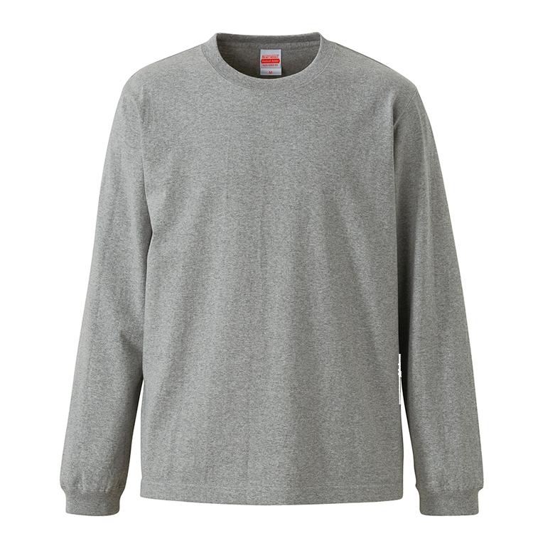 7.1オンスロングスリーブTシャツ(ミックスグレー)