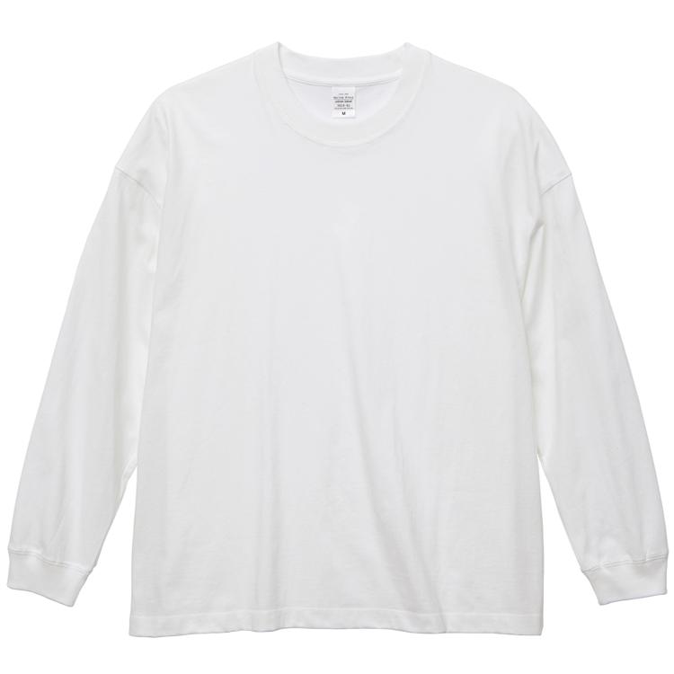 ビッグシルエットロングスリーブTシャツ(ホワイト)