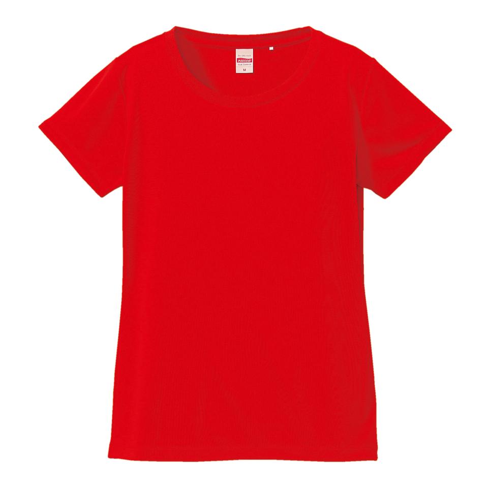 4.7オンスドライシルキータッチ素材のXラインTシャツ(レッド)
