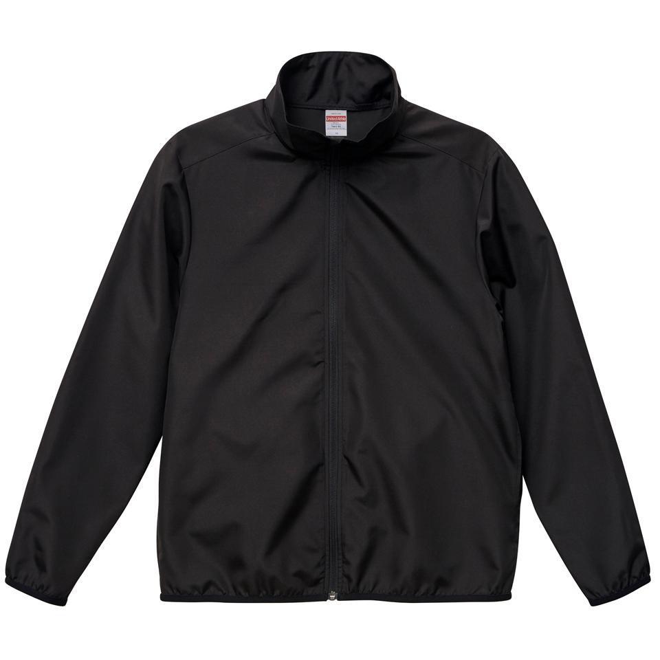 マイクロリップストップ素材のスタッフジャケット(ブラック)