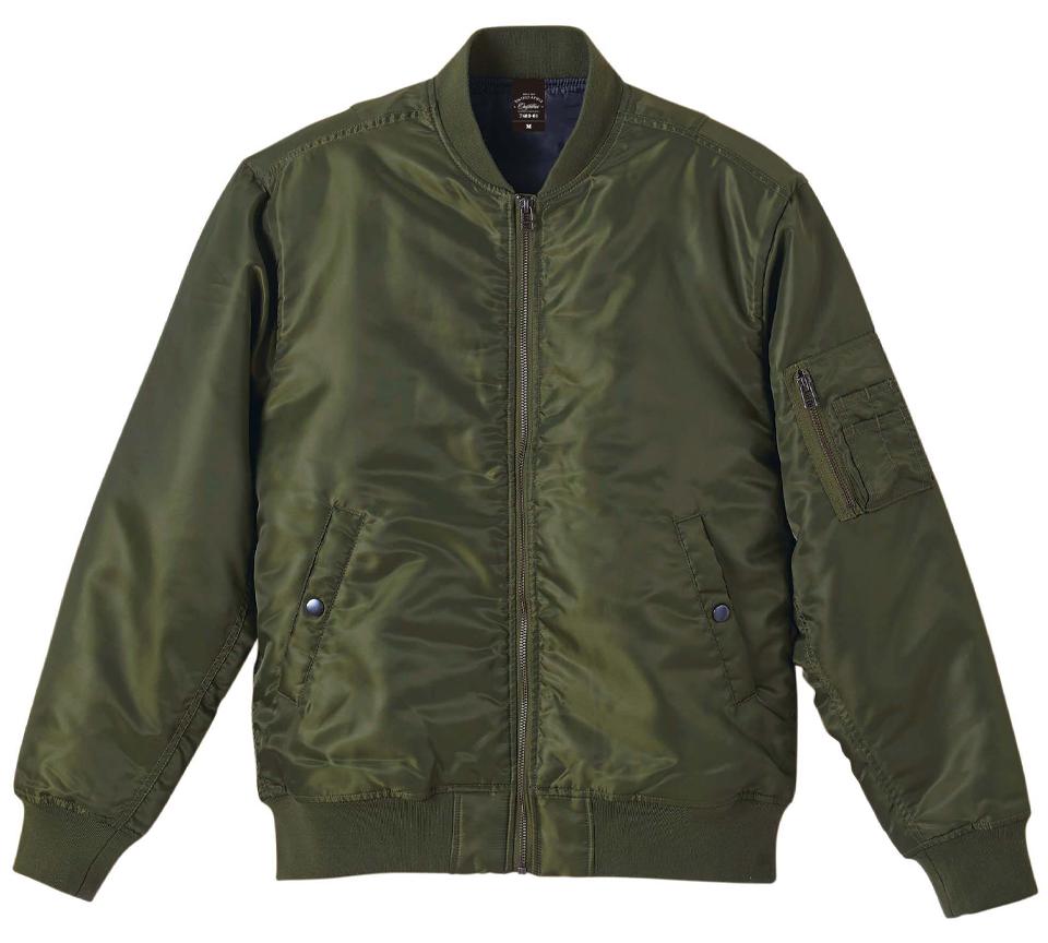 中綿入のタイプMA-1ジャケット(OD)