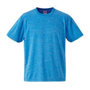 4.1オンスドライTシャツ(ヘザーブルー)