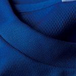 4.1オンスドライTシャツ(コバルトブルー)の襟元の拡大画像