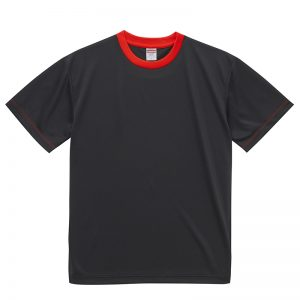 4.1オンスドライTシャツ(ブラック/レッド)