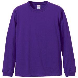 5.6オンスロングスリーブTシャツ(バイオレットパープル)