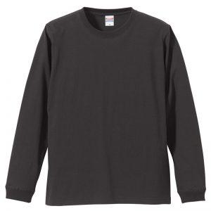5.6オンスロングスリーブTシャツ(チャコール)
