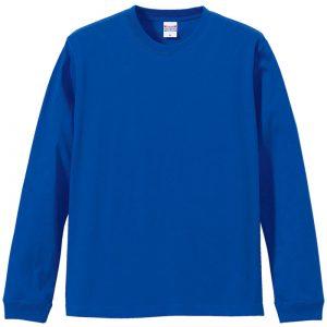 5.6オンスロングスリーブTシャツ(ロイヤルブルー)