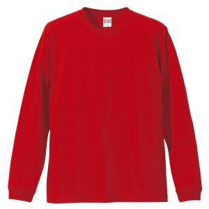 5.6オンスロングスリーブTシャツ(レッド)