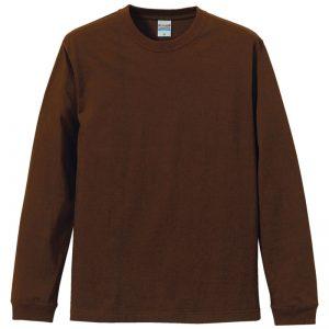5.6オンスロングスリーブTシャツ(ダークブラウン)