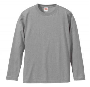 5.6オンスロングスリーブTシャツ(ミックスグレー)
