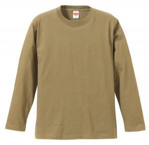 5.6オンスロングスリーブTシャツ(サンドカーキ)