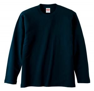 5.6オンスロングスリーブTシャツ(ネイビー)