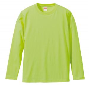 5.6オンスロングスリーブTシャツ(ライムグリーン)