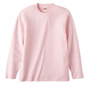 5.6オンスロングスリーブTシャツ(ベビーピンク)