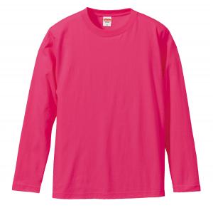 5.6オンスロングスリーブTシャツ(トロピカルピンク)
