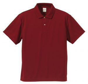 4.1オンスドライアスレチックのポロシャツ(バーガンディ)