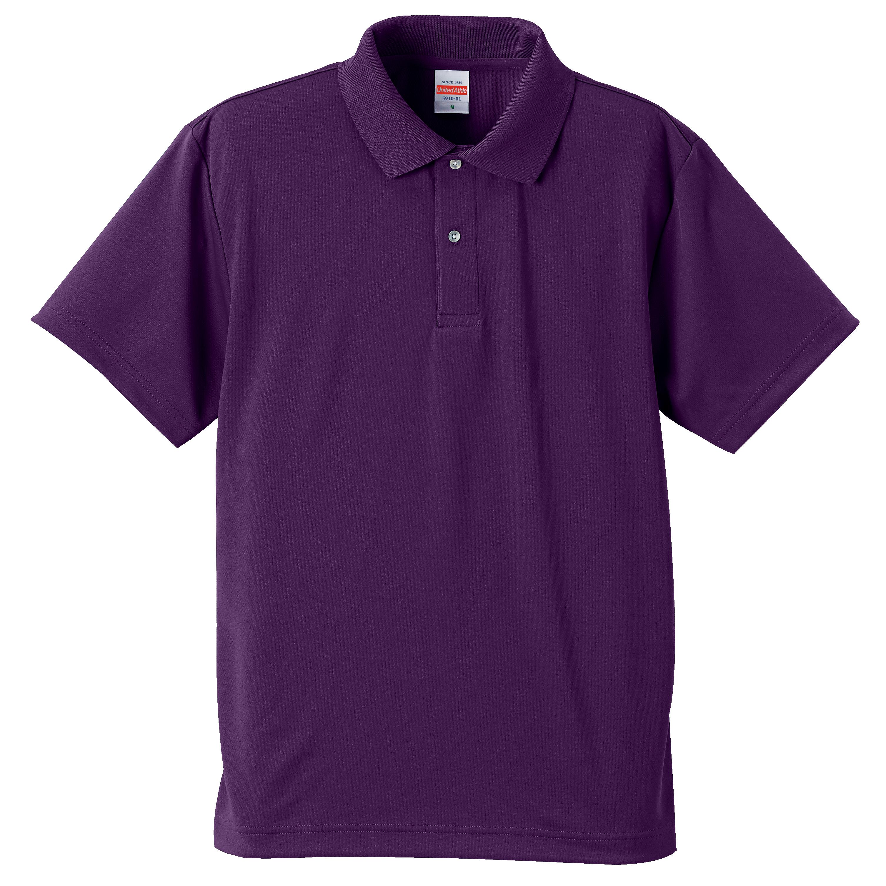 4.1オンスドライアスレチックのポロシャツ(パープル)