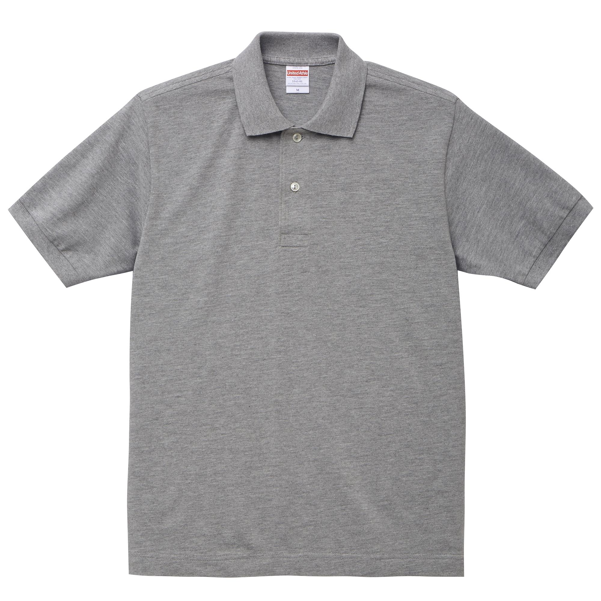 6.0オンスヘヴィーウェイトコットンのポロシャツ(ミックスグレー)
