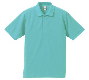 5.3オンスドライカノコのポロシャツ(ミントグリーン)