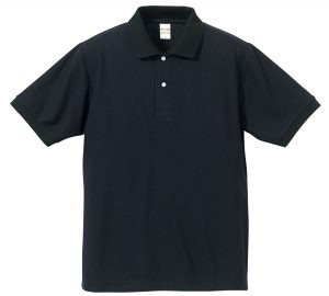 5.3オンスドライカノコのポロシャツ(ネイビー/ブラック)
