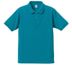 5.3オンスドライカノコのポロシャツ(ターコイズブルー)