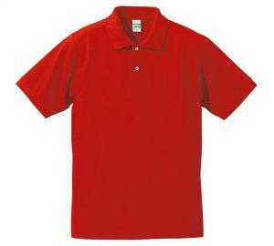 5.3オンスドライカノコのポロシャツ(レッド)