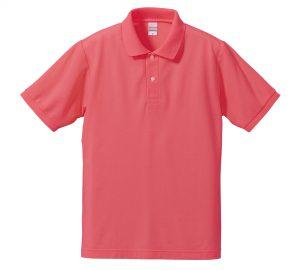 5.3オンスドライカノコのポロシャツ(フラミンゴピンク)