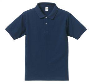 5.3オンスドライカノコのポロシャツ(インディゴ)