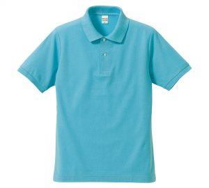 5.3オンスドライカノコのポロシャツ(アクアブルー)