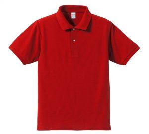 5.3オンスドライカノコのポロシャツ(ハイレッド)