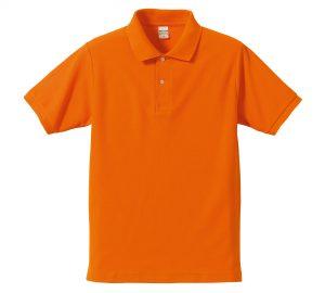 5.3オンスドライカノコのポロシャツ(オレンジ)