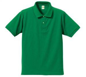 5.3オンスドライカノコのポロシャツ(グリーン)