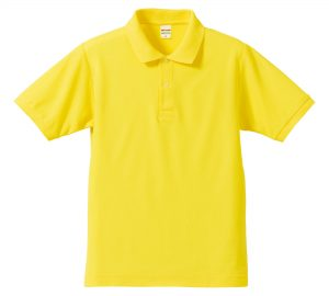 5.3オンスドライカノコのポロシャツ(イエロー)
