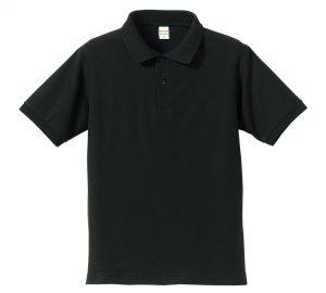 5.3オンスドライカノコのポロシャツ(ブラック)