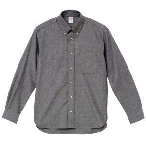 オックスフォードロングスリーブシャツ(OXグレー)