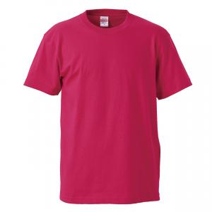 5.6オンスハイクオリティーTシャツ(トロピカルピンク)