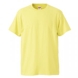 5.6オンスハイクオリティーTシャツ(ライトイエロー)