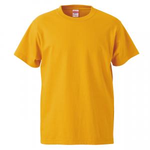 5.6オンスハイクオリティーTシャツ(ゴールド)