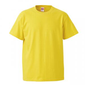5.6オンスハイクオリティーTシャツ(イエロー)