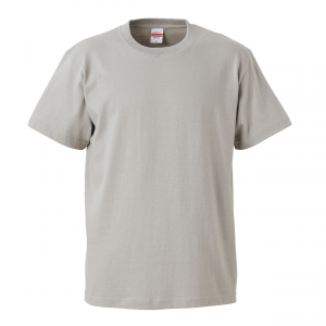 5.6オンスハイクオリティーTシャツ(ライトグレー)