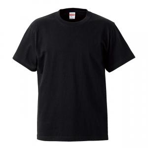 5.6オンスハイクオリティーTシャツ(ブラック)