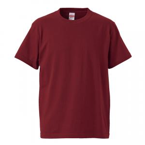 5.6オンスハイクオリティーTシャツ(バーガンディ)