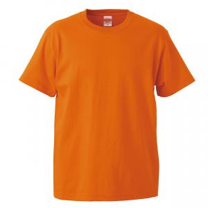 5.6オンスハイクオリティーTシャツ(オレンジ)