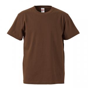 5.6オンスハイクオリティーTシャツ(ダークブラウン)