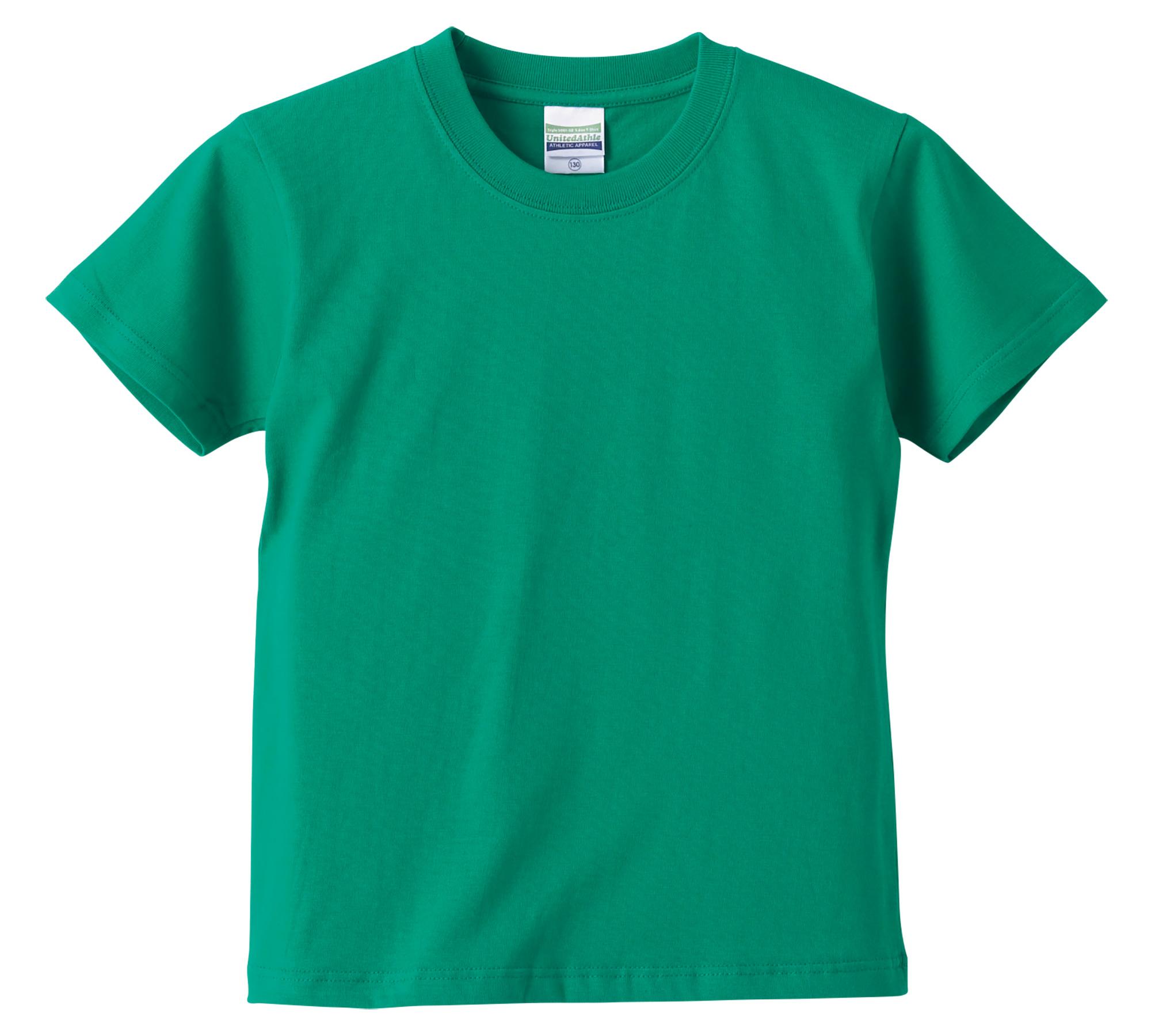 5.6オンスハイクオリティーTシャツ、90~160cmサイズ(グリーン)