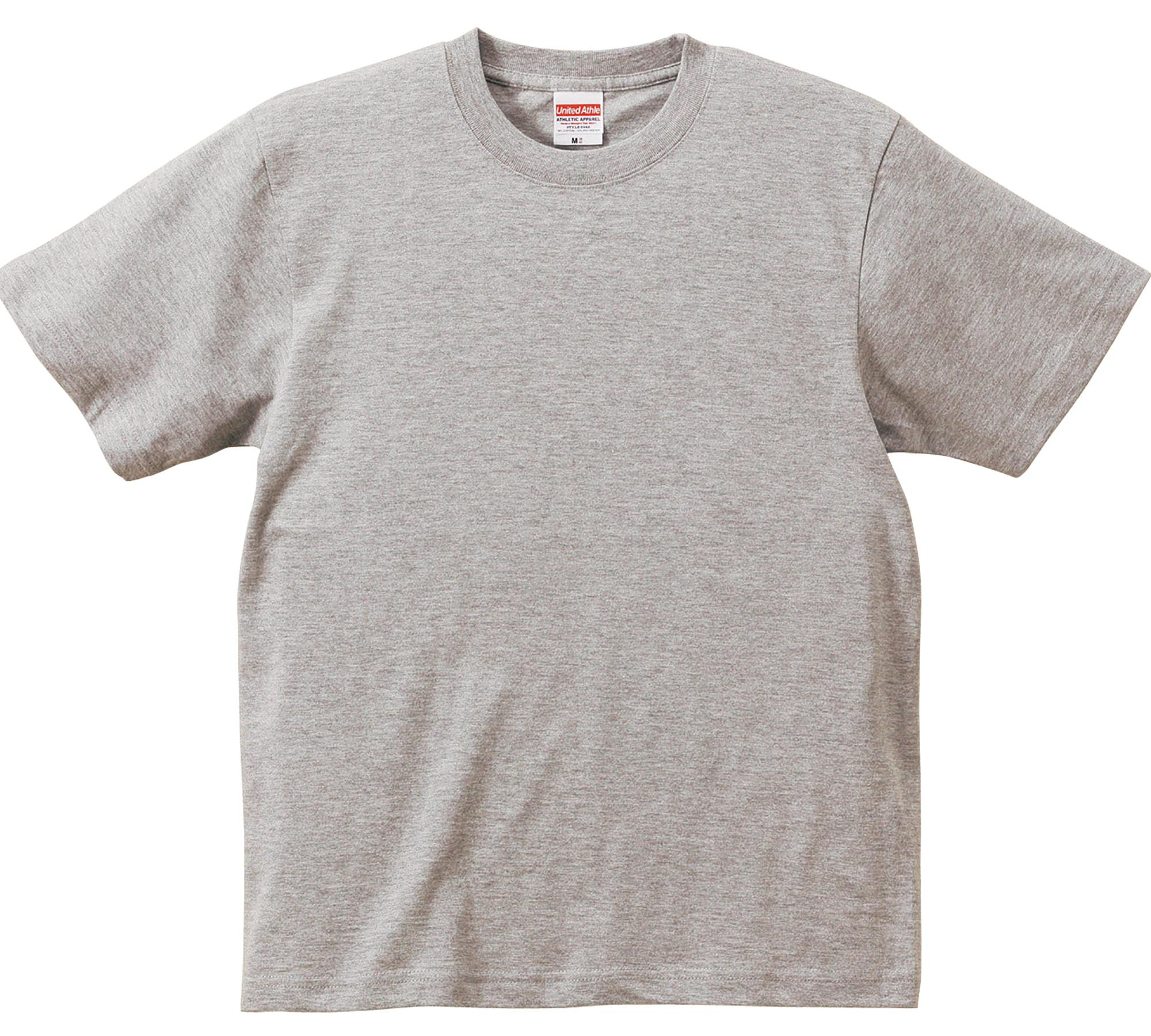 6.2オンスプレミアムTシャツ (ミックスグレー)