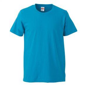 5.0オンスレギュラーフィットTシャツ (ターコイズブルー)